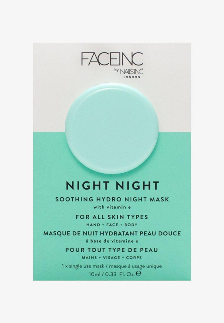 INC.redible - FACE INC NIGHT NIGHT SOOTHING HYDRO MASK 10ML - Maschera viso - 9325 neutral