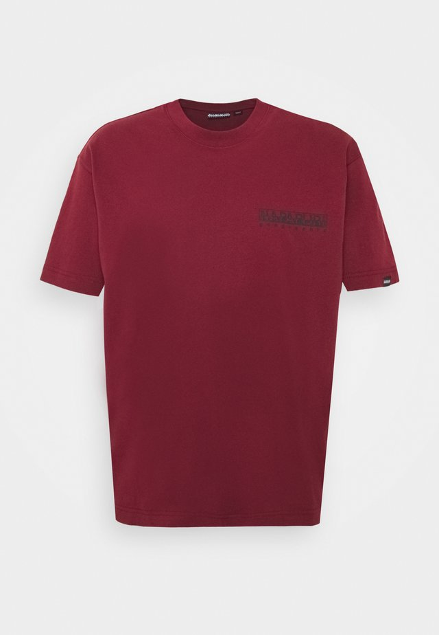 YOIK UNISEX - T-shirt z nadrukiem - vint amaranth
