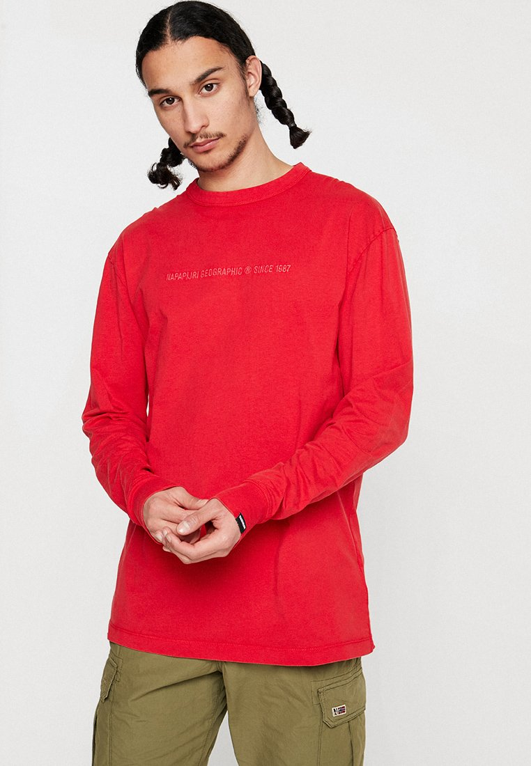 Napapijri The Tribe - SAKAT  - Long sleeved top - cherry red