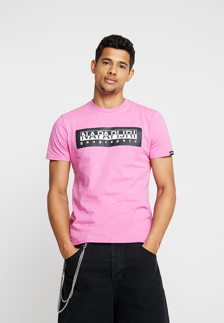 Napapijri The Tribe - BOXLOGO - Print T-shirt - pink