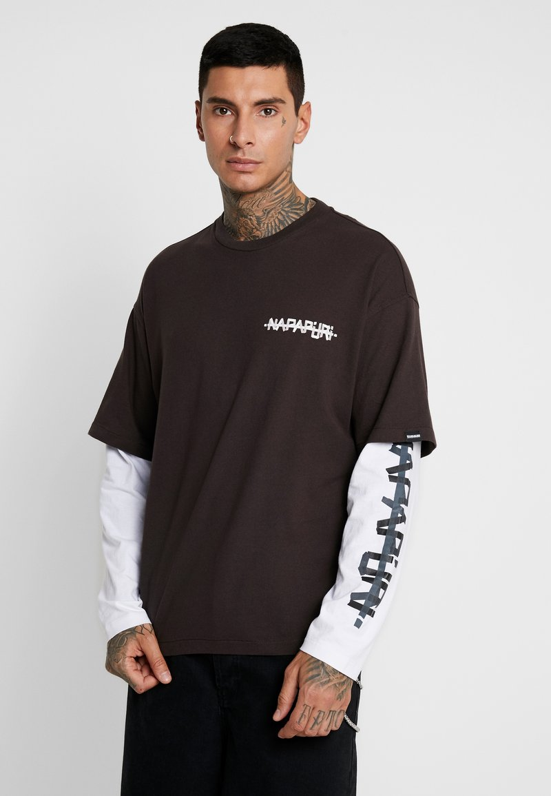 Napapijri The Tribe - SOLT - Langærmede T-shirts - choco brown