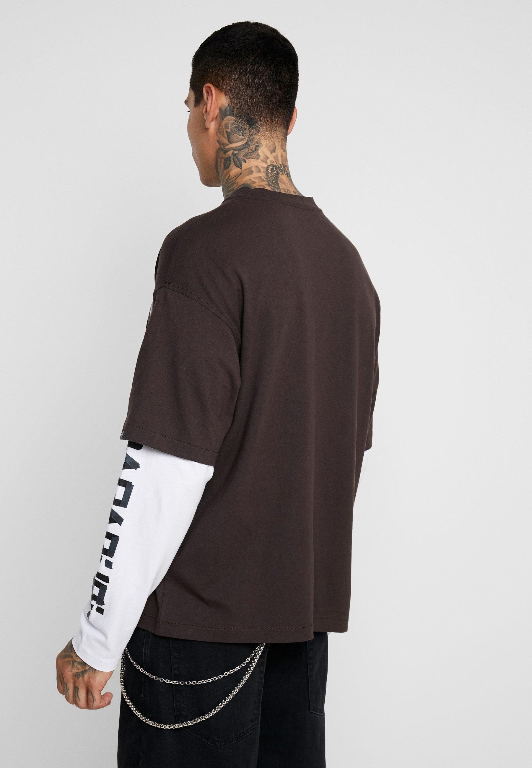 Manches Longues Brown The shirt Choco À SoltT Napapijri Tribe u5FK13TJcl