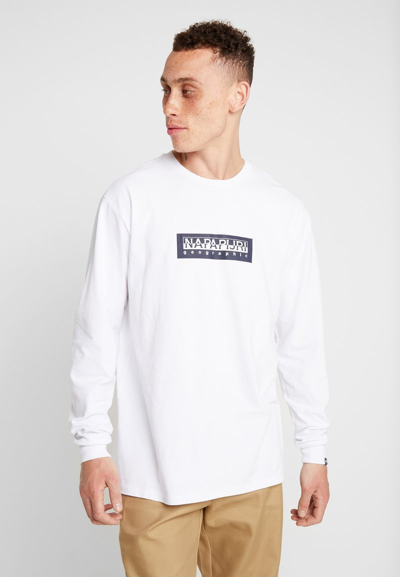 Napapijri The Tribe - SOX - T-shirt à manches longues - bright white