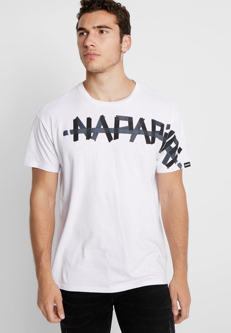 Napapijri The Tribe - SOLT - T-shirts print - bright white