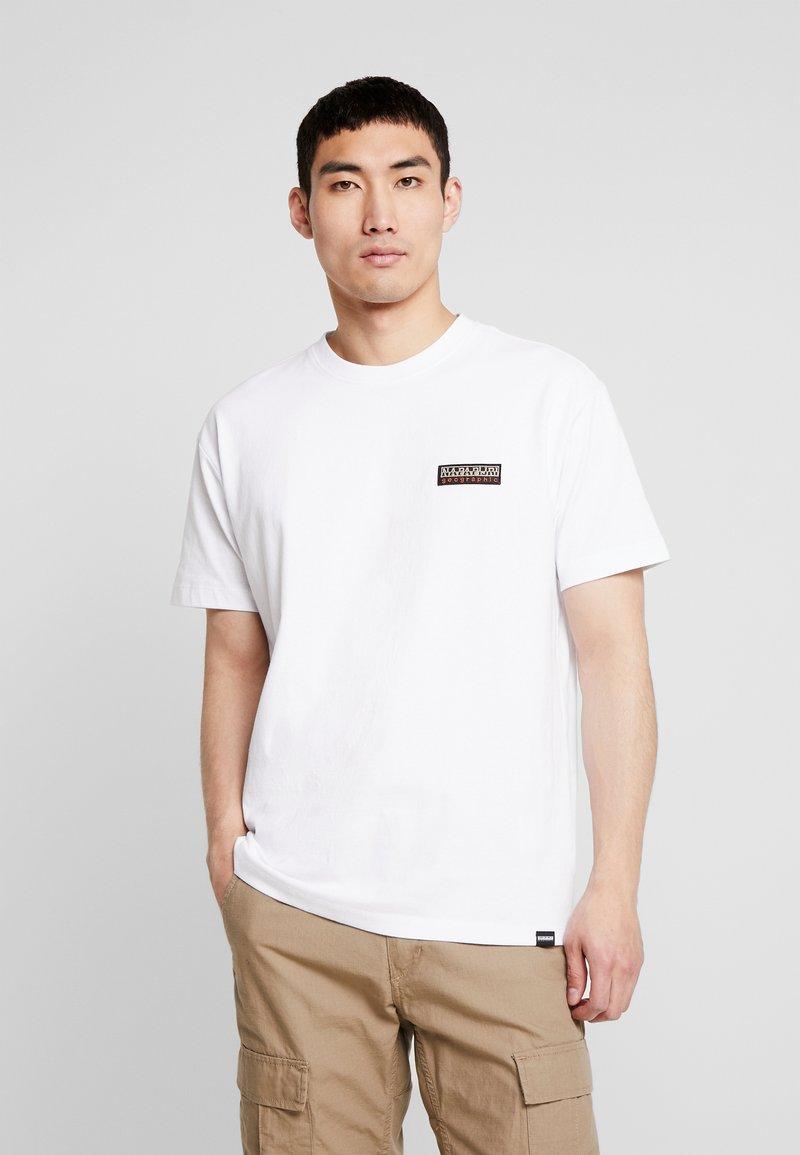 Napapijri The Tribe - SASE - T-shirt imprimé - bright white