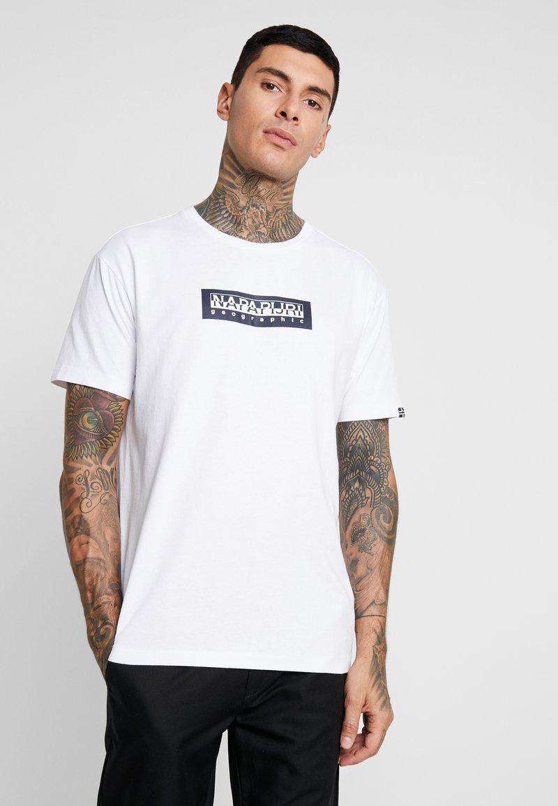 Napapijri The Tribe - SOX  - T-Shirt print - bright white
