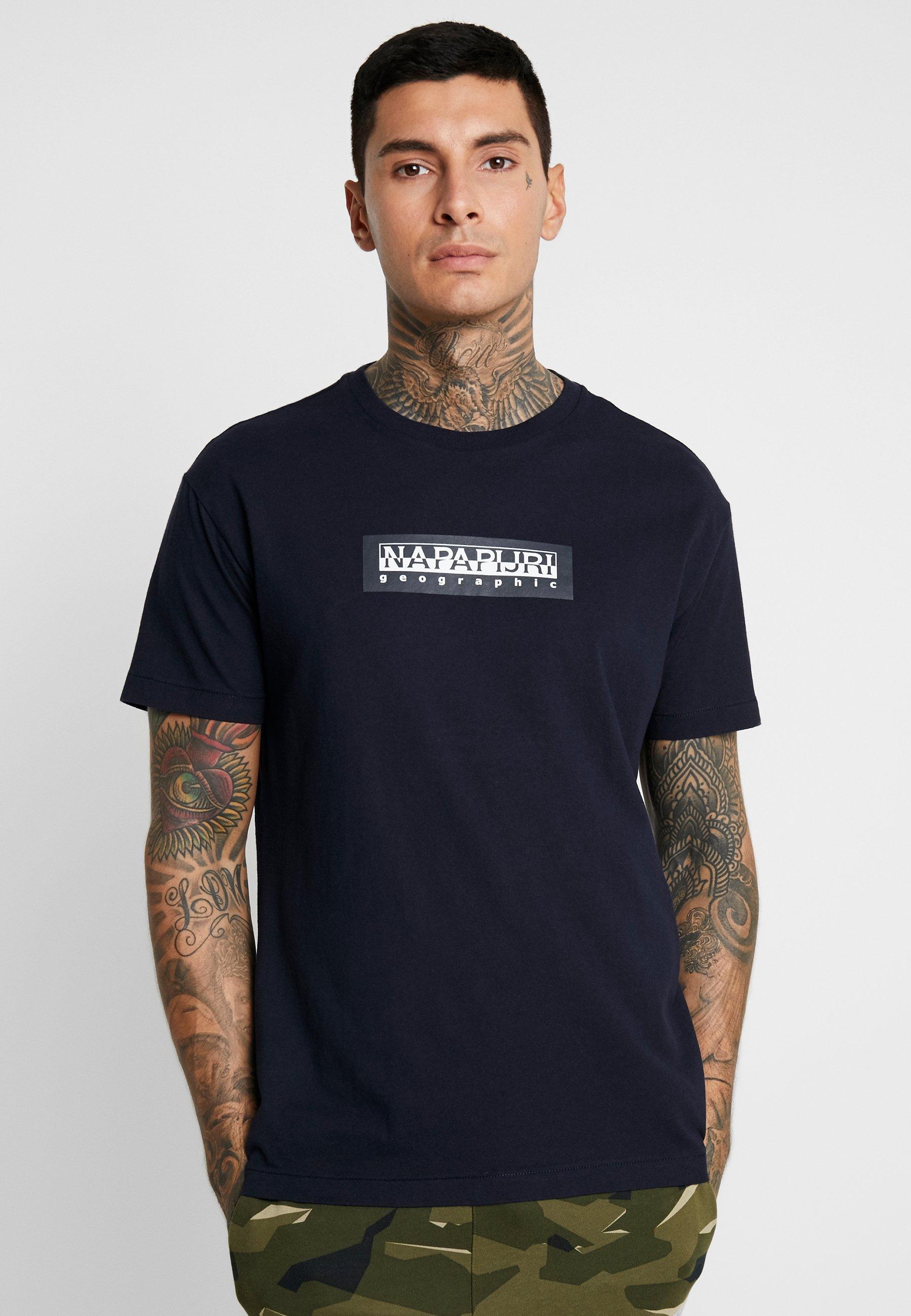 The Tribe shirt Marine Napapijri SoxT Imprimé Blu UzSMVp
