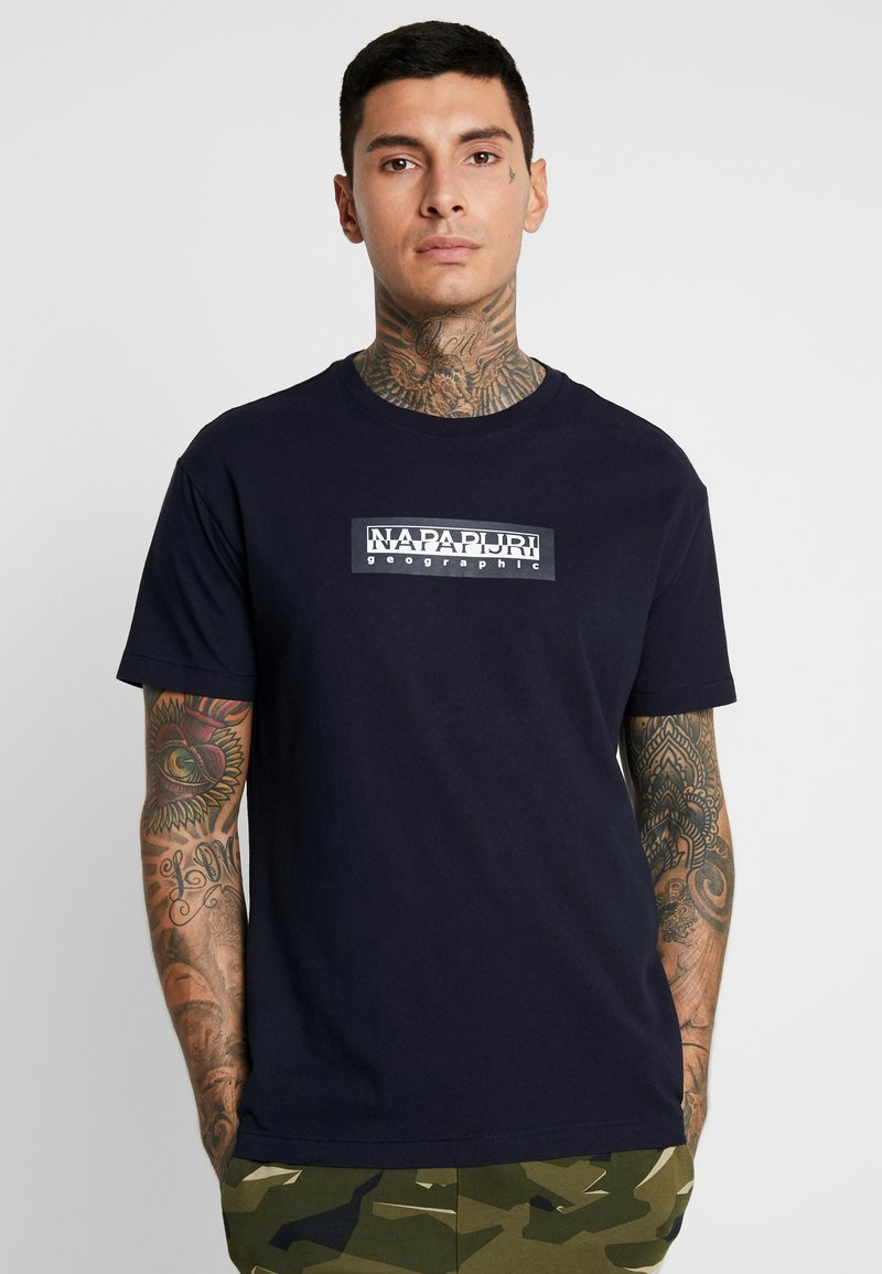 Napapijri The Tribe - SOX  - T-Shirt print - blu marine