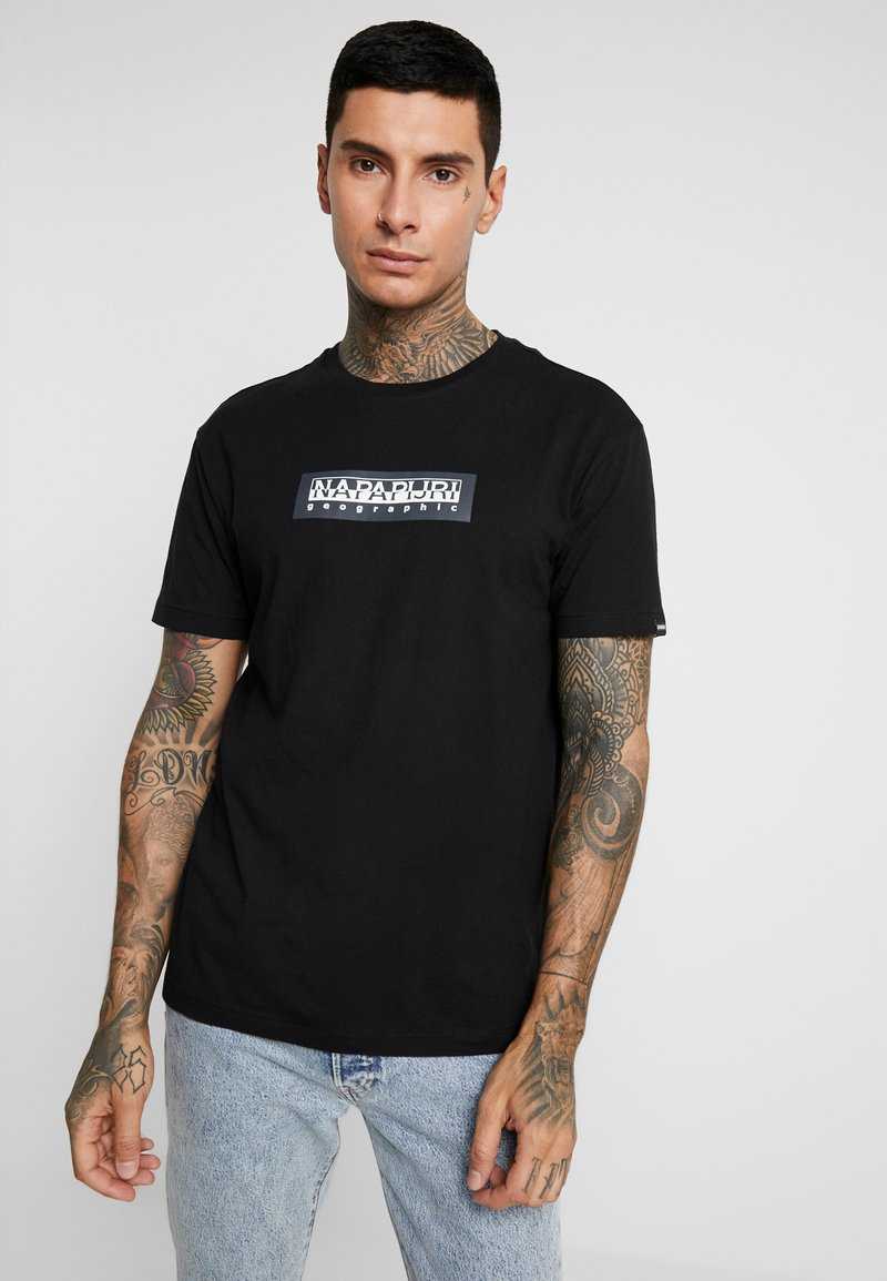 Napapijri The Tribe - SOX  - T-shirt med print - black