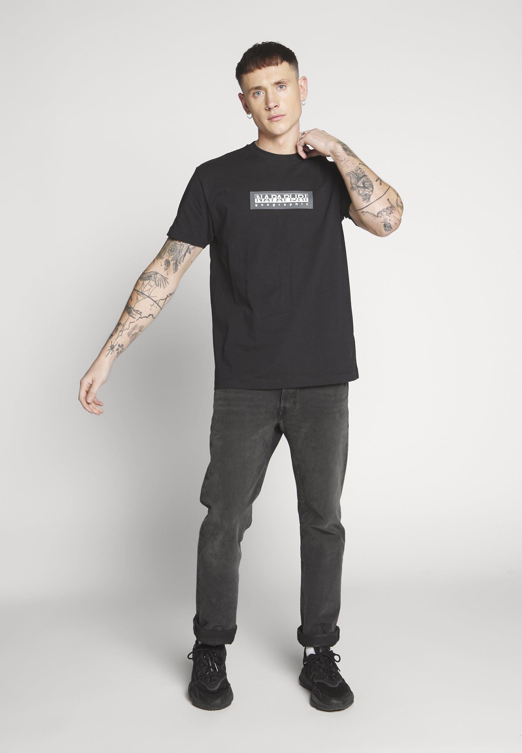 Napapijri The Tribe SOX - T-shirt z nadrukiem - black