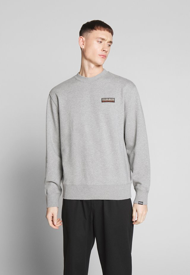 BASE - Collegepaita - medium grey melange