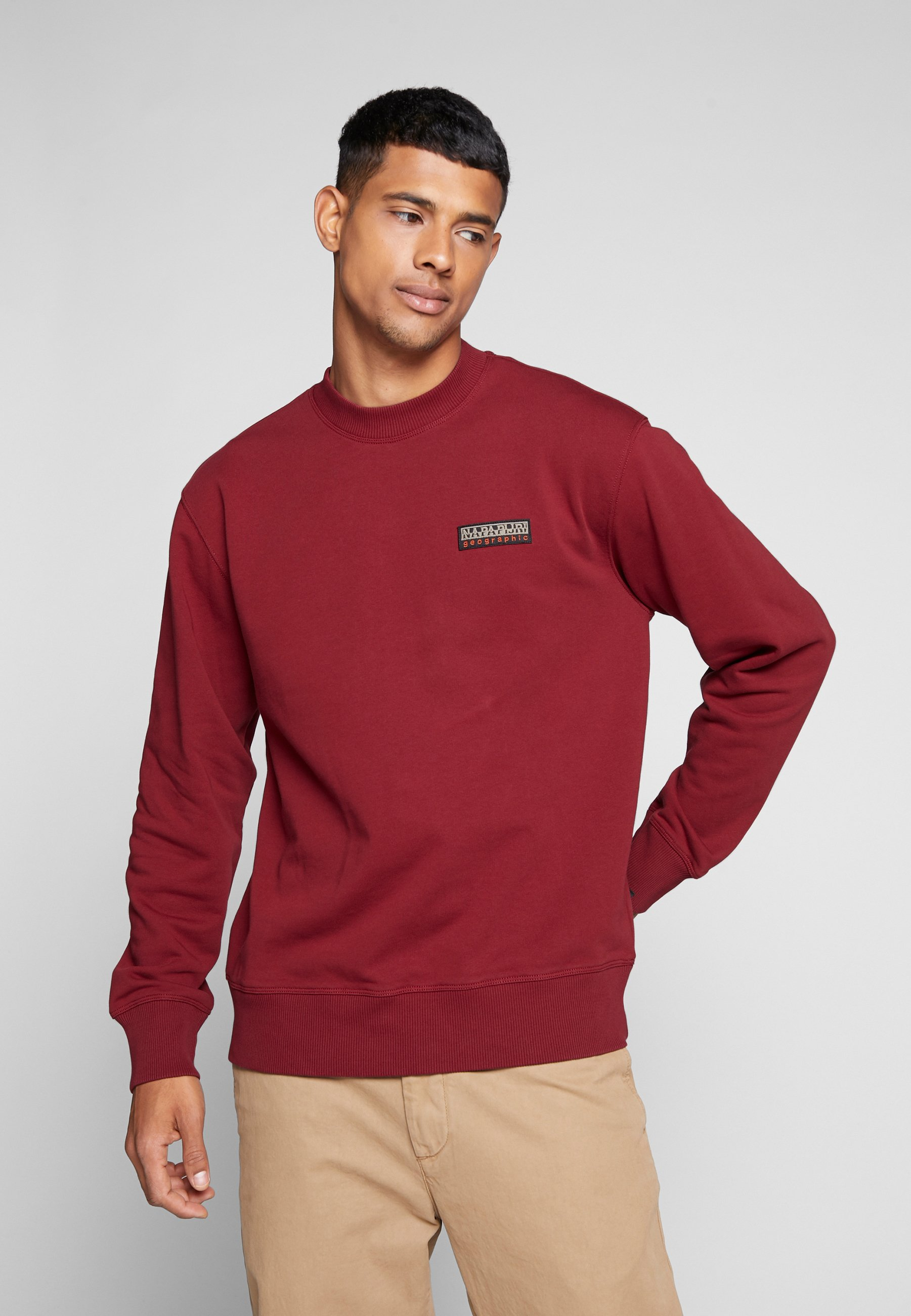 Napapijri The Tribe BASE - Bluza - cherry bordeaux