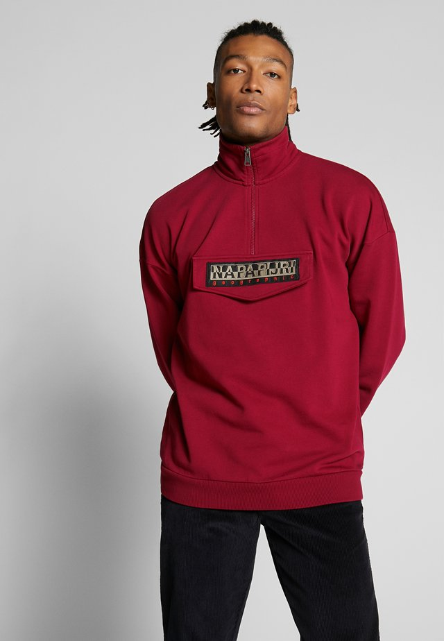 BASE - Sweatshirt - cherry bordeaux