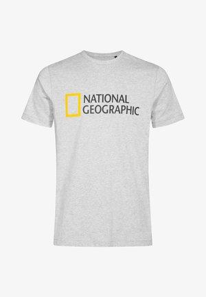 Print T-shirt - light grey melange
