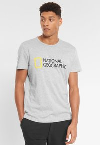 National Geographic - Print T-shirt - light grey melange - 0