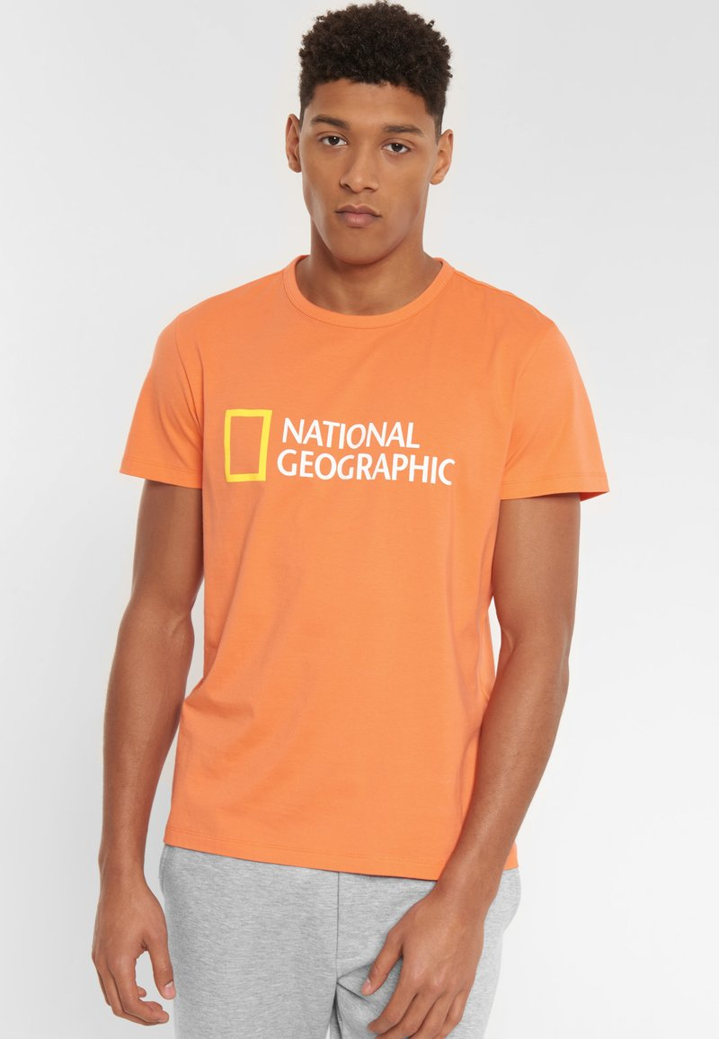 National Geographic - Print T-shirt - coral