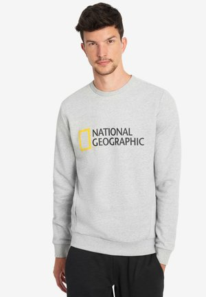 WITH LOGO - Sweatshirt - light grey melange