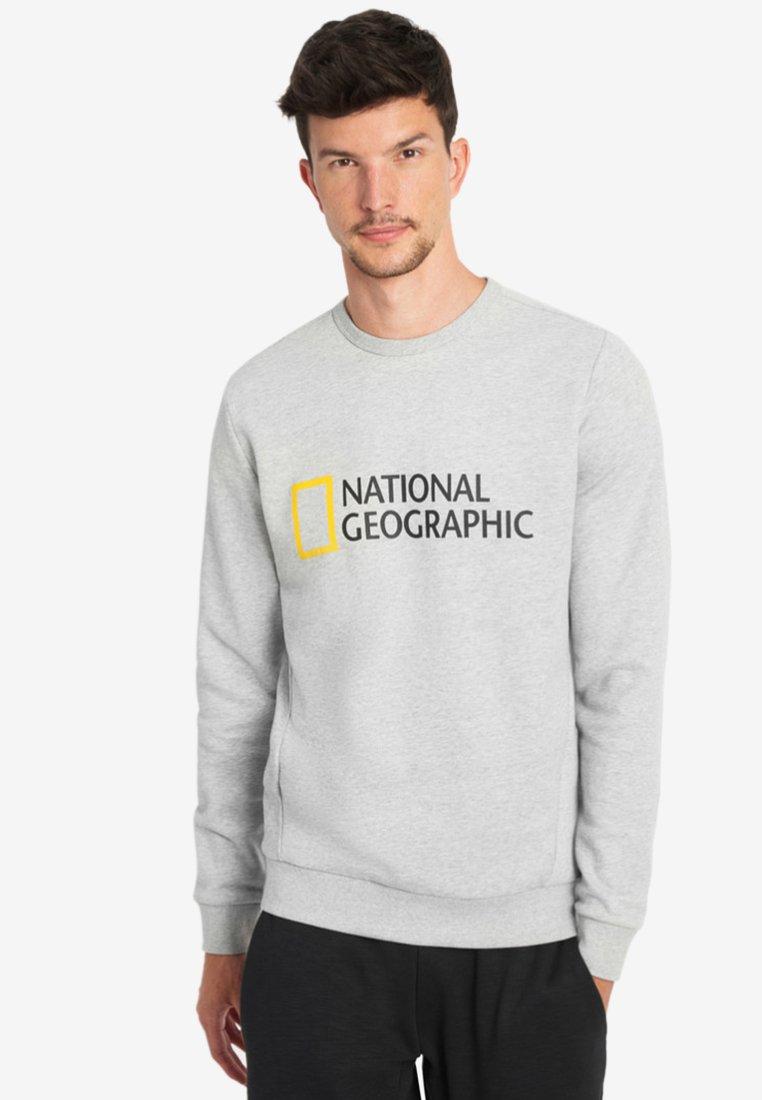 National Geographic - WITH LOGO - Sweatshirt - light grey melange