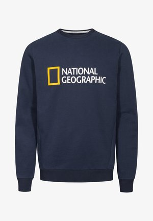 WITH LOGO - Sweatshirt - navy