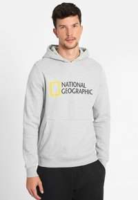 National Geographic - Hoodie - light grey melange - 0