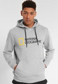 National Geographic - Hoodie - light grey melange - 0