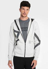 National Geographic - Zip-up hoodie - light grey melange - 2