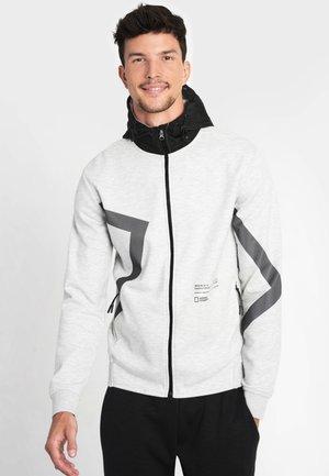 Zip-up hoodie - light grey melange