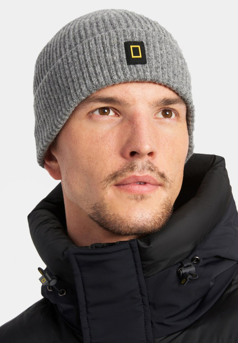 National Geographic - Beanie - light grey melange
