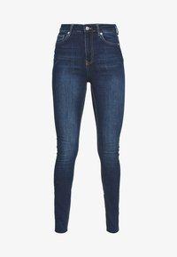 NA-KD Tall - HIGH WAIST RAW TALL - Jeans Skinny Fit - dark blue - 3