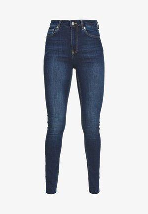 HIGH WAIST RAW TALL - Jeansy Skinny Fit - dark blue