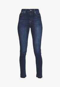 NA-KD Tall - HIGH WAIST OPEN - Jeans Skinny Fit - dark blue - 4