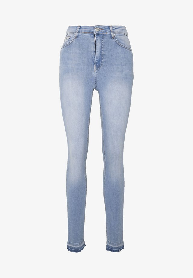 HIGH WAIST OPEN - Jeansy Skinny Fit - light blue