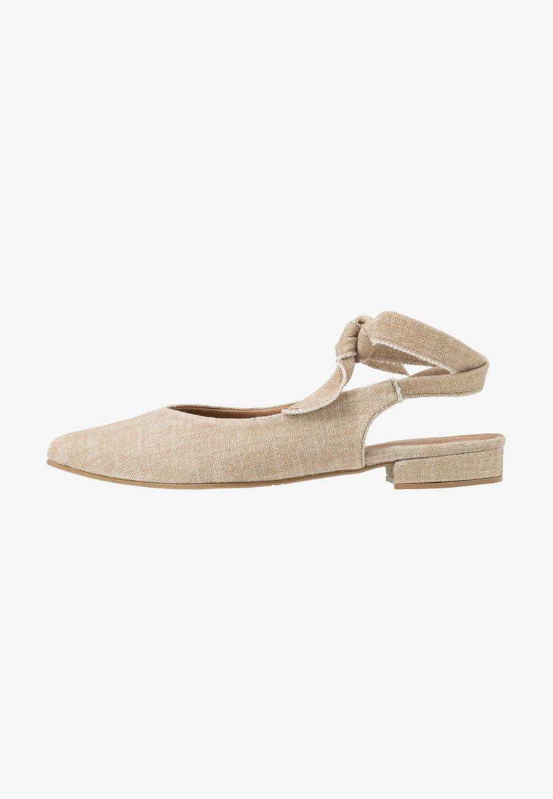 NAE Vegan Shoes - BETH - Baleríny s otevřenou patou - beige