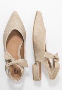 NAE Vegan Shoes - BETH - Baleríny s otevřenou patou - beige - 1
