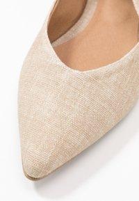 NAE Vegan Shoes - BETH - Baleríny s otevřenou patou - beige - 5