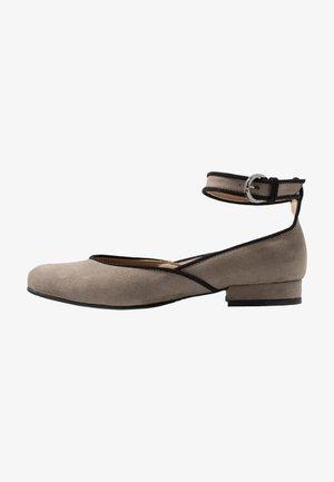 LEEN - Ankle strap ballet pumps - grey