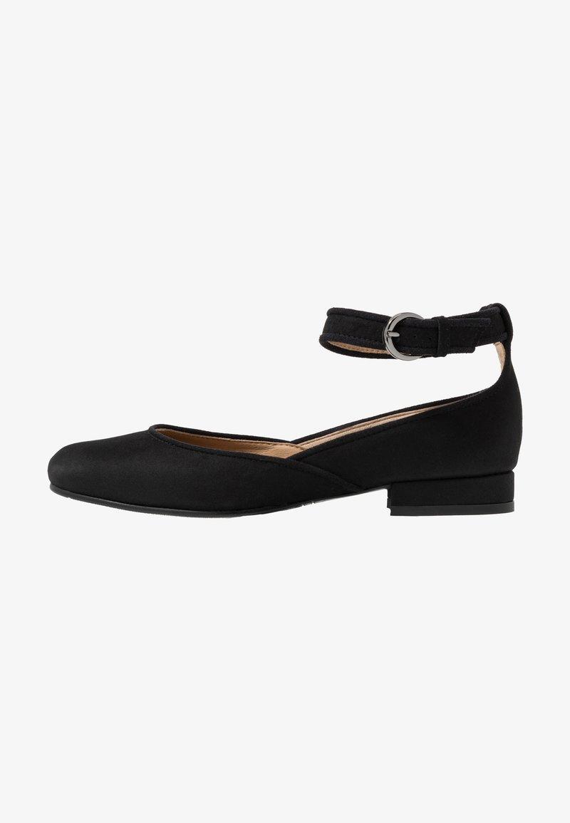 NAE Vegan Shoes - LEEN - Ankle strap ballet pumps - black