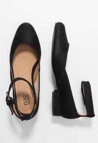 NAE Vegan Shoes - LEEN - Ankle strap ballet pumps - black - 1