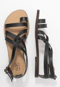 NAE Vegan Shoes - ITACA - Sandály s odděleným palcem - black - 3