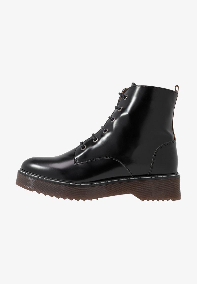 NAE Vegan Shoes - TRINA - Kotníkové boty na platformě - black