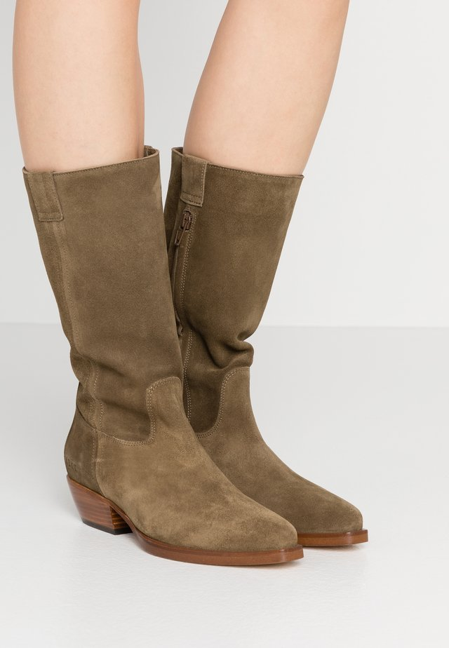 HOLLY DANA - Cowboy/Biker boots - taupe