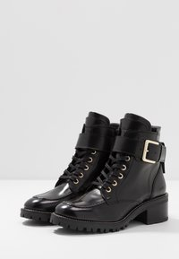 Nubikk - DJUNA AUBINE - Lace-up ankle boots - black - 4