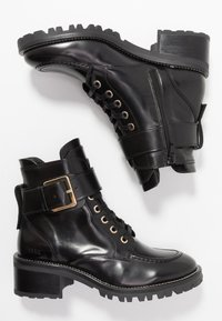 Nubikk - DJUNA AUBINE - Lace-up ankle boots - black - 3