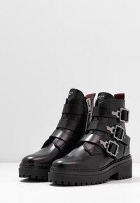 Nubikk - Cowboy- / bikerstøvlette - black - 4