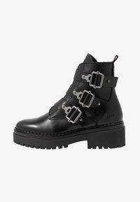 Nubikk - Cowboy- / bikerstøvlette - black - 1