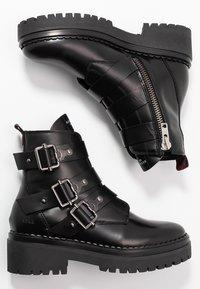 Nubikk - Cowboy- / bikerstøvlette - black - 3
