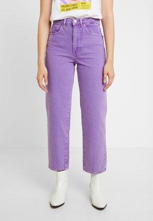 EDIE - Jean droit - purple