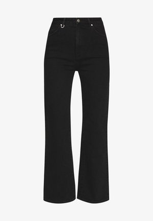 MAGAZINE ALINE - Flared jeans - black denim