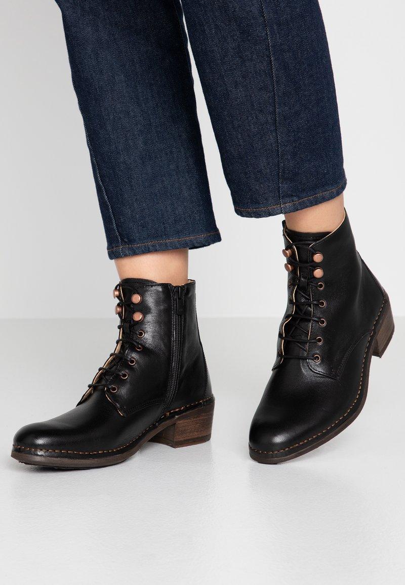 Neosens - MEDOC - Lace-up ankle boots - dakota black