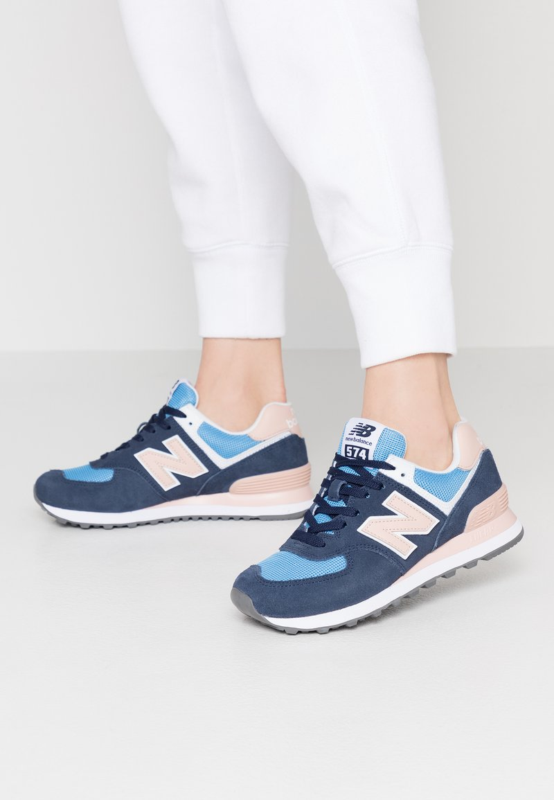 New Balance - WL574 - Trainers - navy/pink
